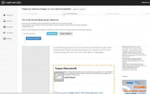 Bei Nativendo können Sie exakt einstellen, an welcher Stelle Ihrer Website die Native Adds eingebunden werden sollen.