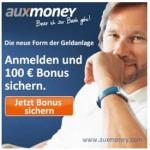 Auxmoney: 100 Euro Bonus für Geldanlagen