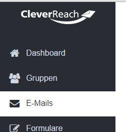"""Klicken Sie in der linken Leiste auf """"E-Mails"""", um eine neue Mail-Kampagne auszuwählen."""