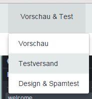 """Sind Sie mit der Erstellung Ihrer Mail fertig, klicken Sie auf """"Speichern"""" und anschließend auf """"Vorschau & Test"""" und """"Testversand"""". Ist dieser erfolgreich, ist Ihre Mail zum Versand an die Newsletter-Empfänger bereit."""