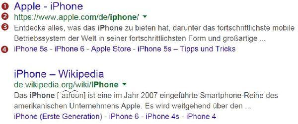 So präsentiert Google seine Suchergebnisse.
