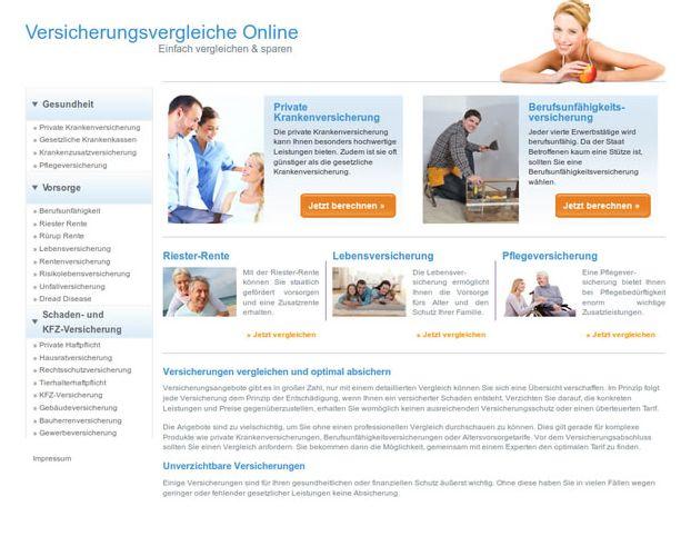 In drei Farben zur Auswahl gibt es die Website-Vorlage von Finanzen.de