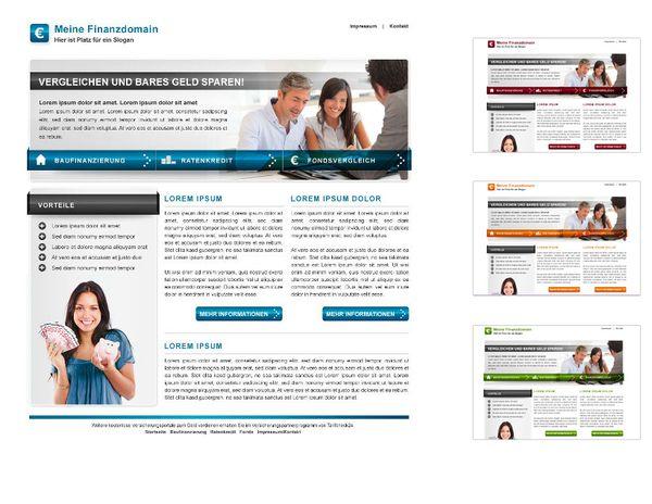 Bei Tarifcheck24 haben Sie mehrere Website-Themes zur Auswahl