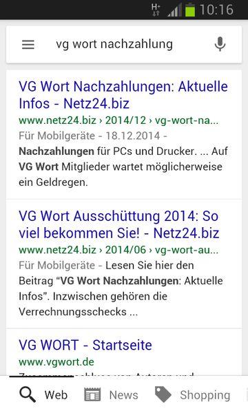 """Google bevorzugt bei mobilen Suchen Websites, die für mobile Endgeräte optimiert sind. Die Nutzer erkennen das """"Mobile Friendly""""-Feature am Hinweis """"Für Mobilgeräte""""."""