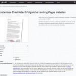 Fünf Tipps für erfolgreiche Landing Pages