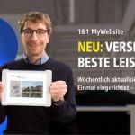 1&1 stellt neue MyWebsite-Version vor