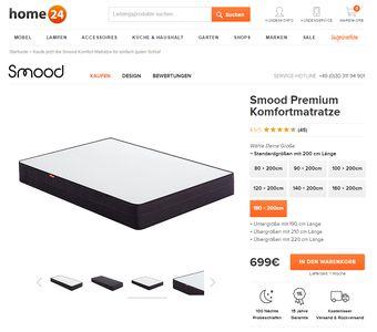 home24 stellt smood vor die beste matratze der welt. Black Bedroom Furniture Sets. Home Design Ideas