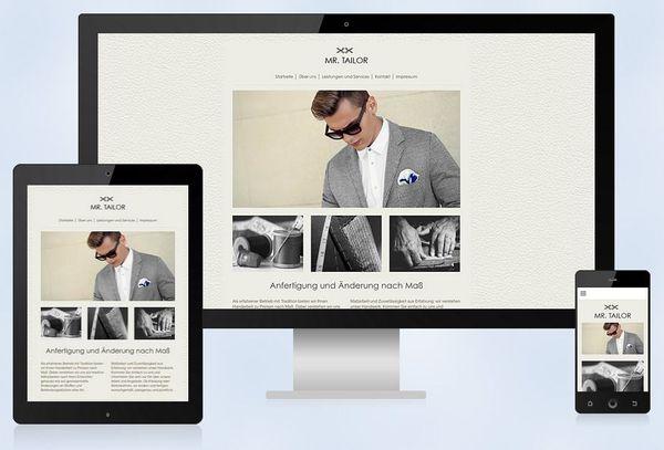 1&1 bietet für MyWebsite Templates mit einem Responsive Design an. So werden die Websites auf allen Geräten optimal dargestellt.