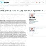 VG Wort einigt sich mit BITKOM auf Nachzahlungen für PCs