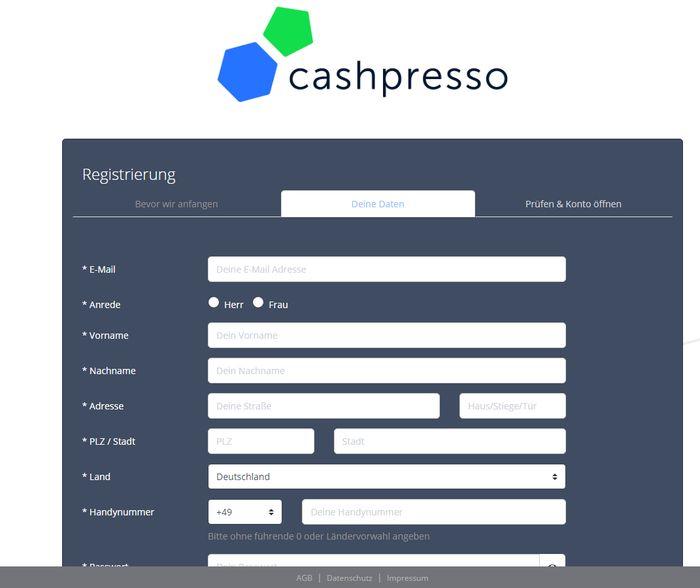 Schon nach 10 Minuten können Sie bei Cashpresso auf bis zu 1.500 Euro zugreifen.