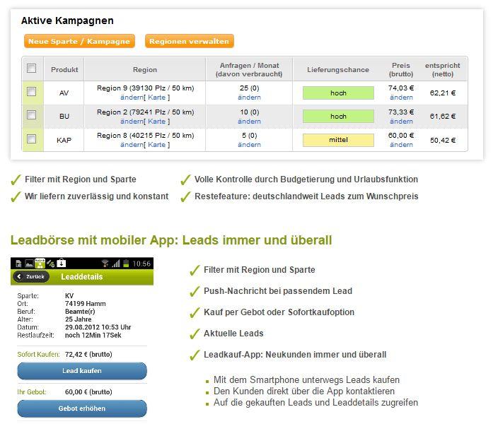 Leadbörse Leadkampagnen Finanzen.de