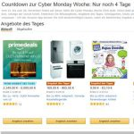 Amazon Cyber Monday Woche, Black Friday