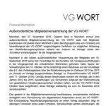 VG Wort Pressemitteilung