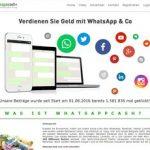 Virale Werbung mit Whatsapp Cash