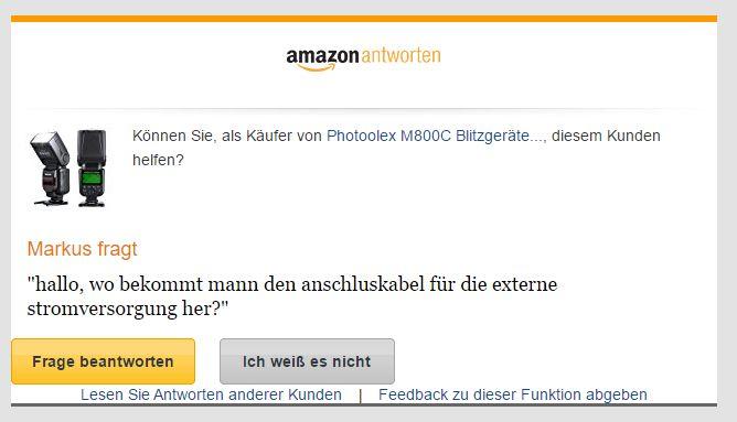 Amazon Antworten