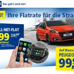 1&1 Angebot: Handy-Flatrate + neuer Peugeot 208