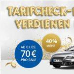Tarifcheck erhöht Provision für KFZ-Abschlüsse auf 70 Euro